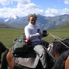 На лошадях на гору Байда